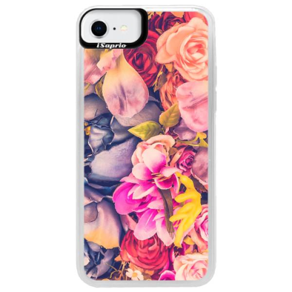 Neonové pouzdro Blue iSaprio - Beauty Flowers - iPhone SE 2020