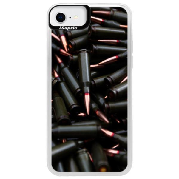 Neonové pouzdro Blue iSaprio - Black Bullet - iPhone SE 2020