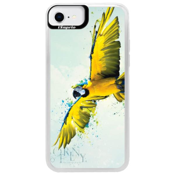 Neonové pouzdro Blue iSaprio - Born to Fly - iPhone SE 2020