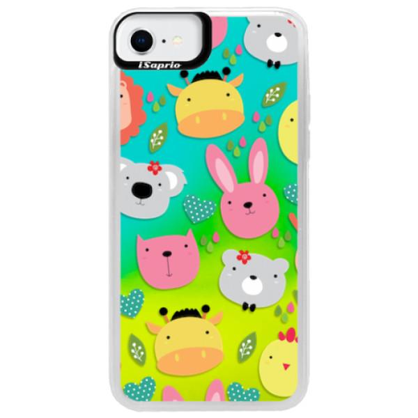Neonové pouzdro Blue iSaprio - Animals 01 - iPhone SE 2020