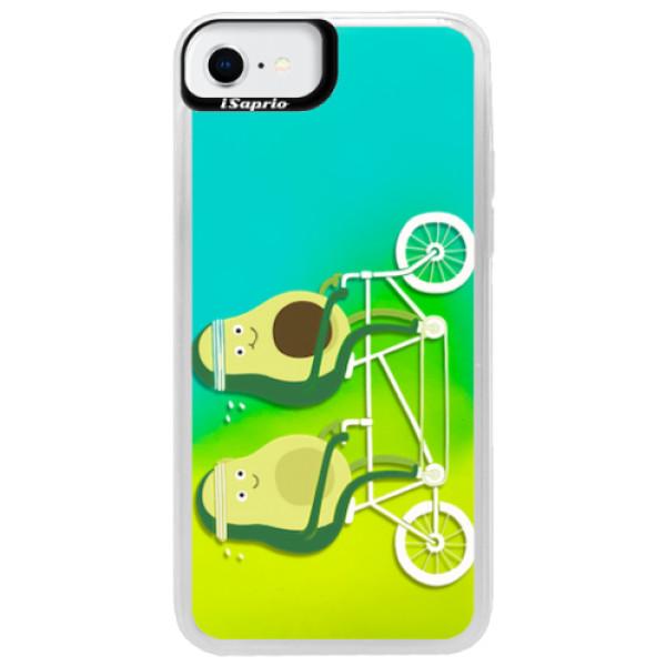 Neonové pouzdro Blue iSaprio - Avocado - iPhone SE 2020