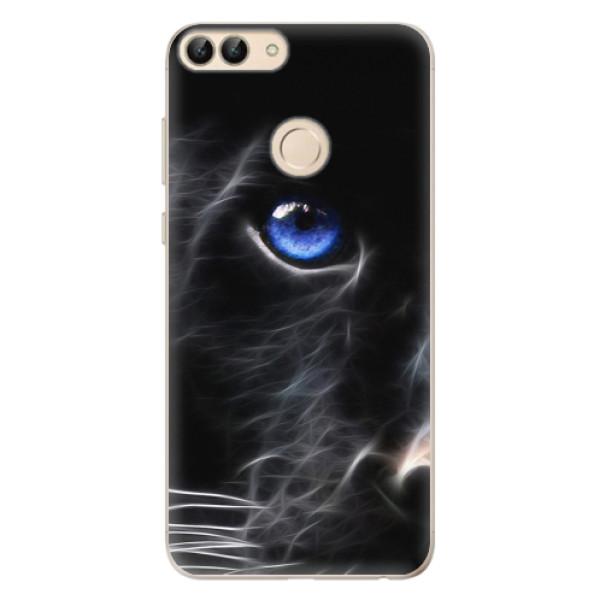 Odolné silikonové pouzdro iSaprio - Black Puma - Huawei P Smart