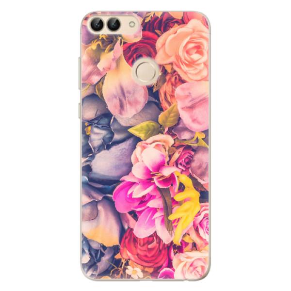 Odolné silikonové pouzdro iSaprio - Beauty Flowers - Huawei P Smart