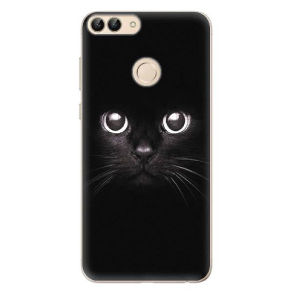 Odolné silikonové pouzdro iSaprio - Black Cat - Huawei P Smart