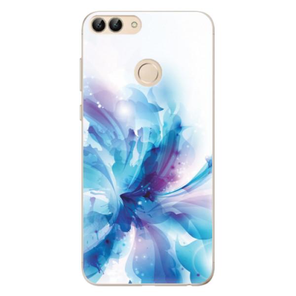 Odolné silikonové pouzdro iSaprio - Abstract Flower - Huawei P Smart