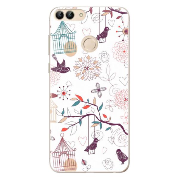 Odolné silikonové pouzdro iSaprio - Birds - Huawei P Smart