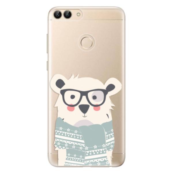 Odolné silikonové pouzdro iSaprio - Bear with Scarf - Huawei P Smart