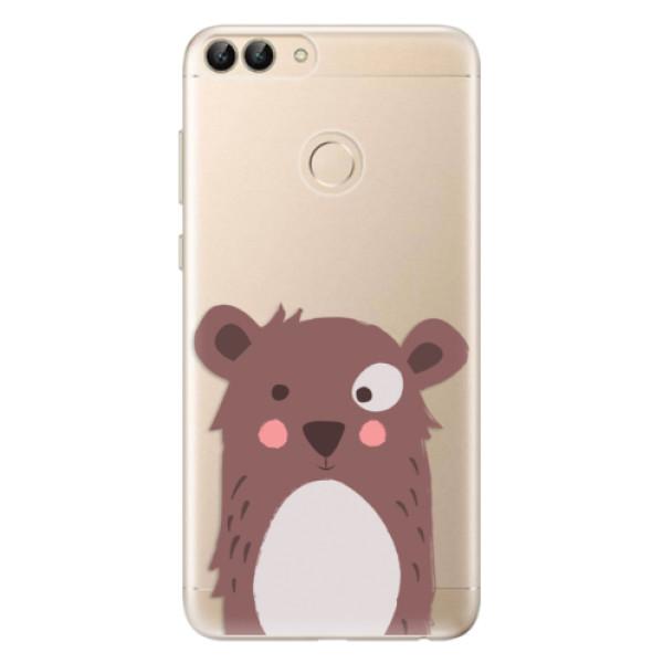 Odolné silikonové pouzdro iSaprio - Brown Bear - Huawei P Smart