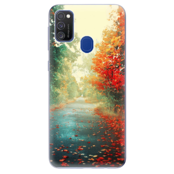 Odolné silikonové pouzdro iSaprio - Autumn 03 - Samsung Galaxy M21