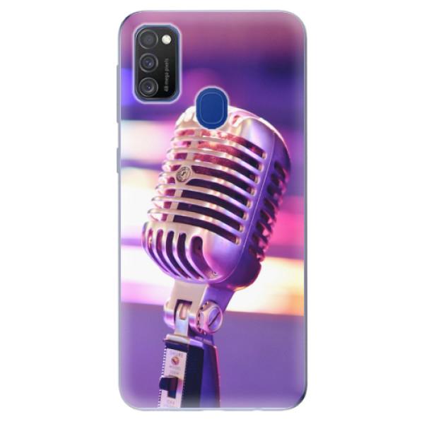 Odolné silikonové pouzdro iSaprio - Vintage Microphone - Samsung Galaxy M21