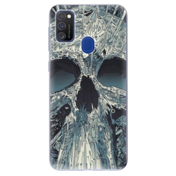 Odolné silikonové pouzdro iSaprio - Abstract Skull - Samsung Galaxy M21