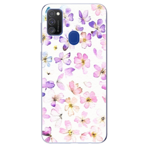 Odolné silikonové pouzdro iSaprio - Wildflowers - Samsung Galaxy M21