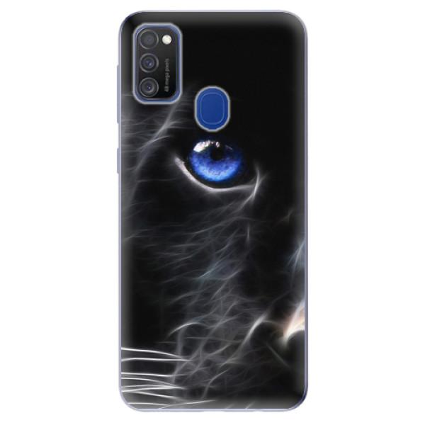 Odolné silikonové pouzdro iSaprio - Black Puma - Samsung Galaxy M21