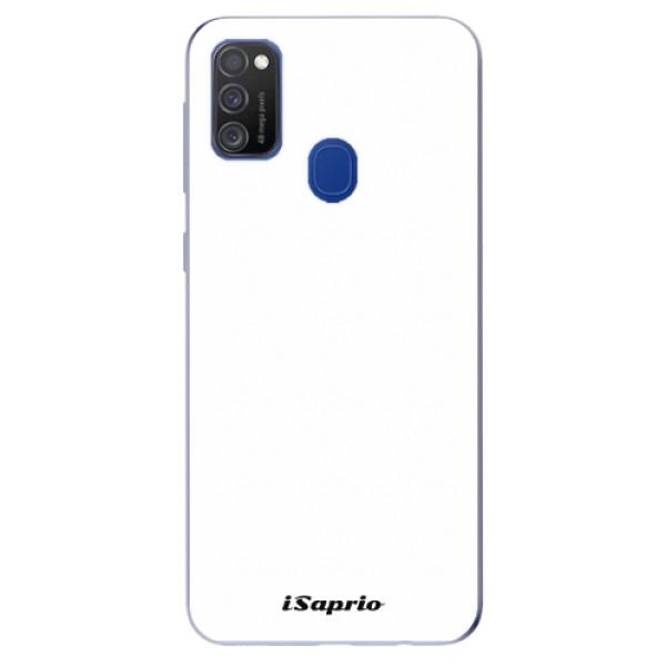 Odolné silikonové pouzdro iSaprio - 4Pure - bílý - Samsung Galaxy M21