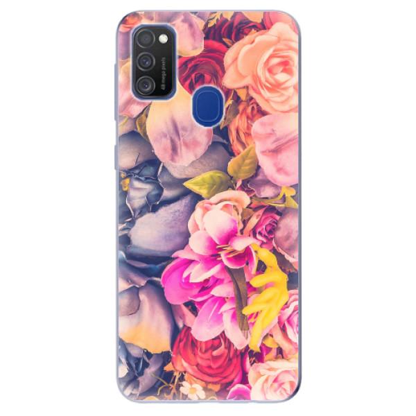Odolné silikonové pouzdro iSaprio - Beauty Flowers - Samsung Galaxy M21