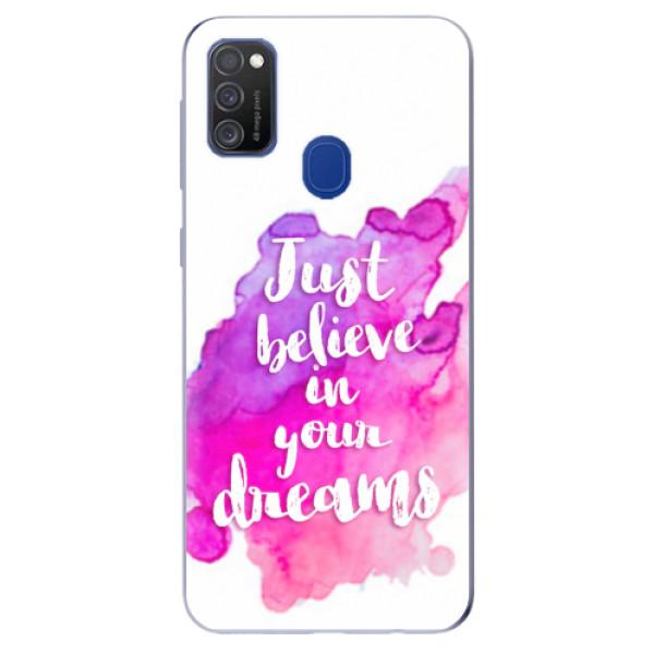 Odolné silikonové pouzdro iSaprio - Believe - Samsung Galaxy M21