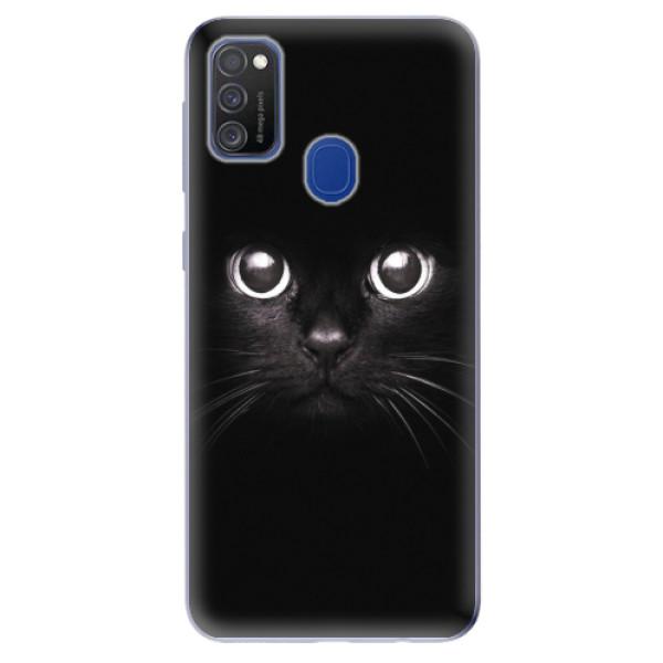 Odolné silikonové pouzdro iSaprio - Black Cat - Samsung Galaxy M21