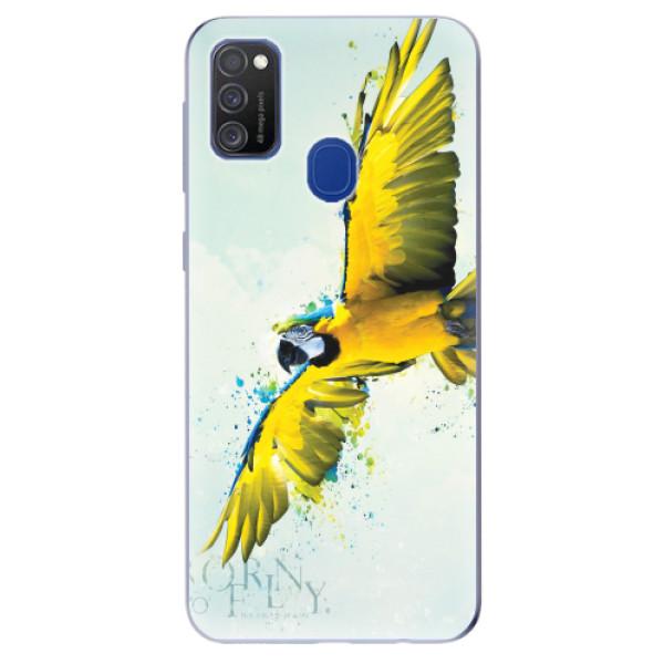 Odolné silikonové pouzdro iSaprio - Born to Fly - Samsung Galaxy M21