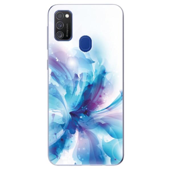 Odolné silikonové pouzdro iSaprio - Abstract Flower - Samsung Galaxy M21