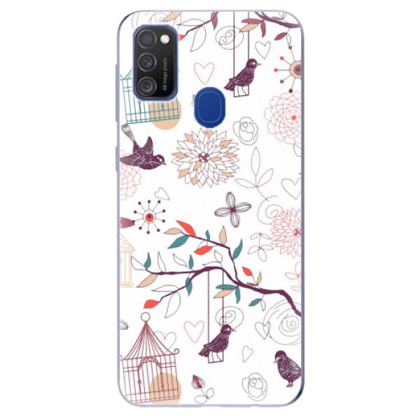 Odolné silikonové pouzdro iSaprio - Birds - Samsung Galaxy M21