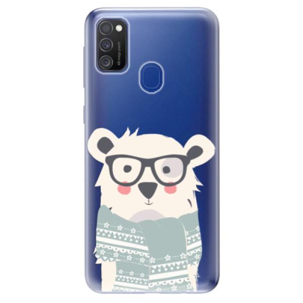 Odolné silikonové pouzdro iSaprio - Bear with Scarf - Samsung Galaxy M21