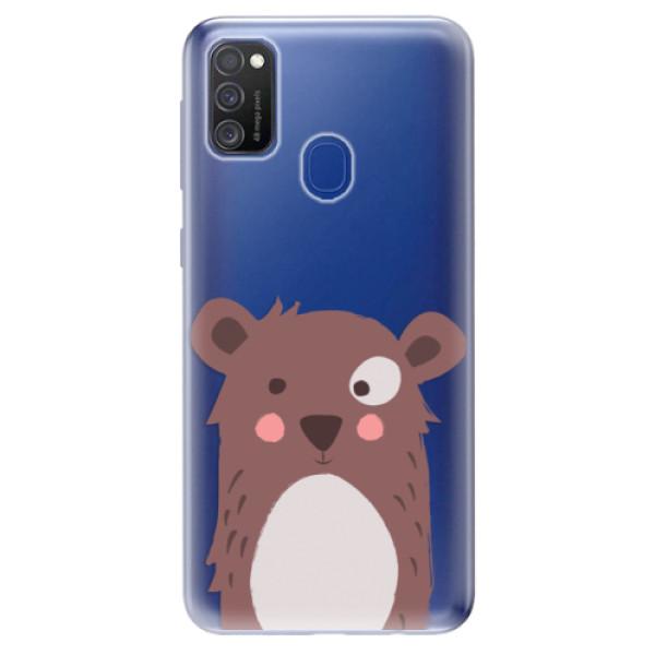 Odolné silikonové pouzdro iSaprio - Brown Bear - Samsung Galaxy M21