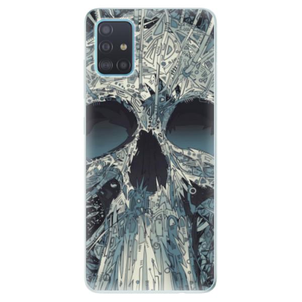 Odolné silikonové pouzdro iSaprio - Abstract Skull - Samsung Galaxy A51