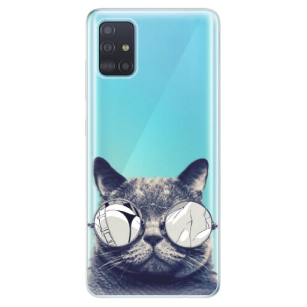 Odolné silikonové pouzdro iSaprio - Crazy Cat 01 - Samsung Galaxy A51