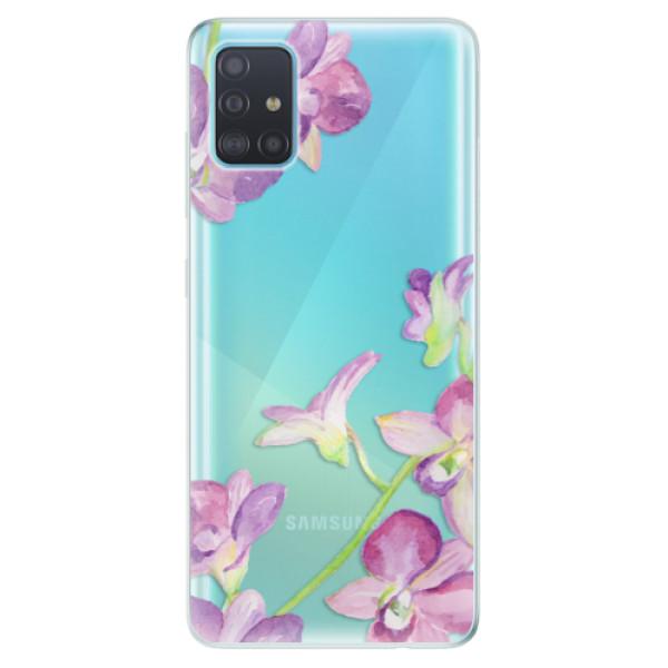 Odolné silikonové pouzdro iSaprio - Purple Orchid - Samsung Galaxy A51