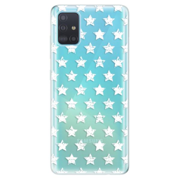 Odolné silikonové pouzdro iSaprio - Stars Pattern - white - Samsung Galaxy A51