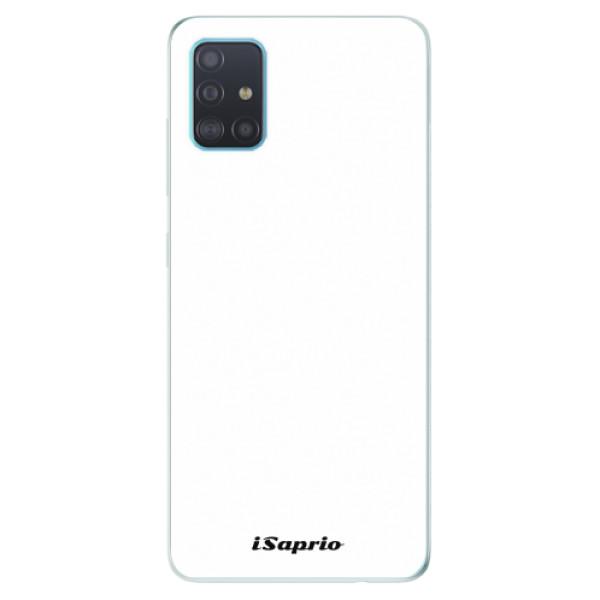 Odolné silikonové pouzdro iSaprio - 4Pure - bílý - Samsung Galaxy A51