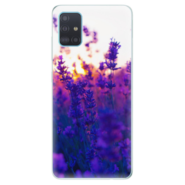 Odolné silikonové pouzdro iSaprio - Lavender Field - Samsung Galaxy A51