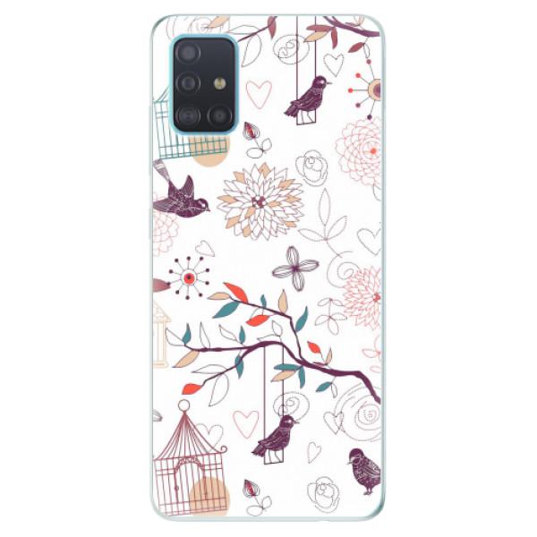 Odolné silikonové pouzdro iSaprio - Birds - Samsung Galaxy A51