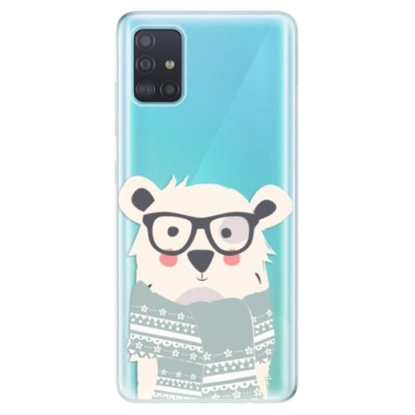 Odolné silikonové pouzdro iSaprio - Bear with Scarf - Samsung Galaxy A51
