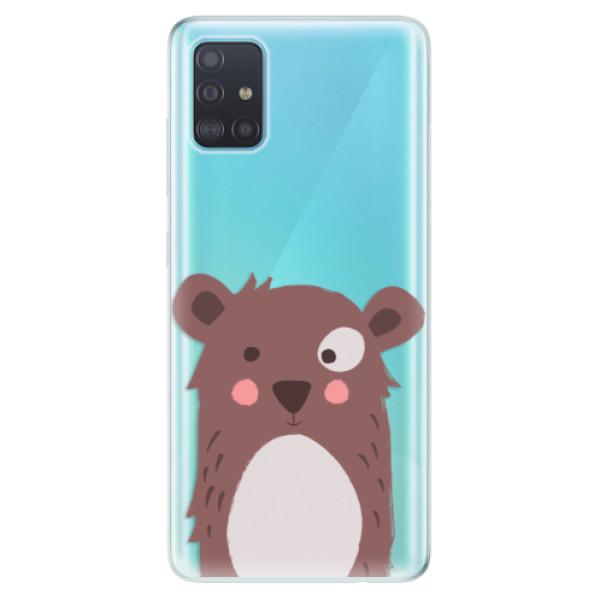 Odolné silikonové pouzdro iSaprio - Brown Bear - Samsung Galaxy A51