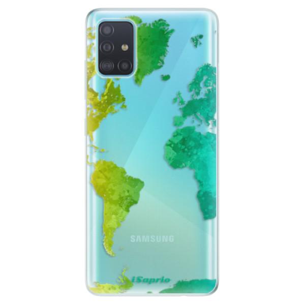 Odolné silikonové pouzdro iSaprio - Cold Map - Samsung Galaxy A51
