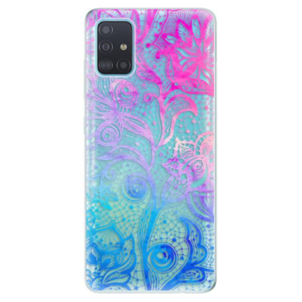 Odolné silikonové pouzdro iSaprio - Color Lace - Samsung Galaxy A51