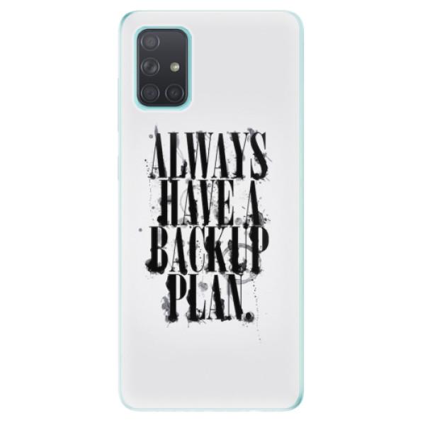Odolné silikonové pouzdro iSaprio - Backup Plan - Samsung Galaxy A71