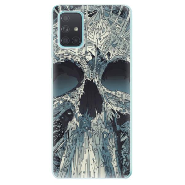 Odolné silikonové pouzdro iSaprio - Abstract Skull - Samsung Galaxy A71