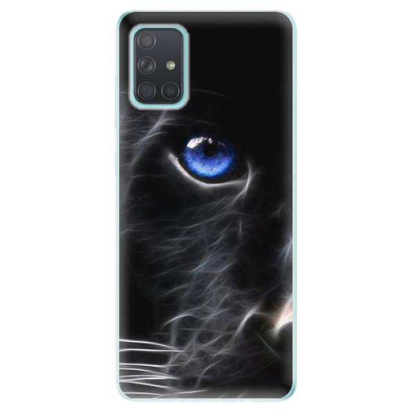 Odolné silikonové pouzdro iSaprio - Black Puma - Samsung Galaxy A71
