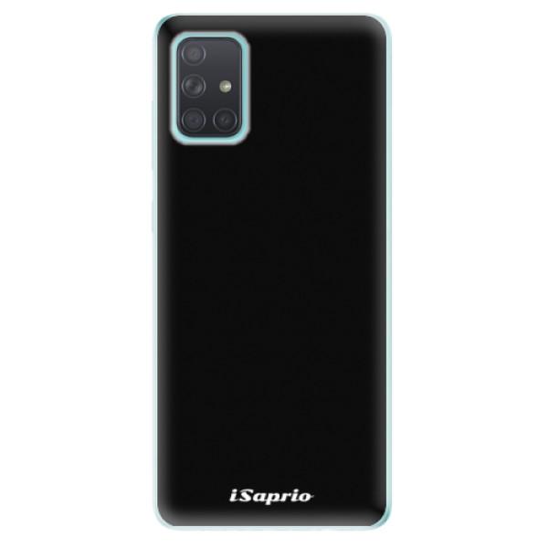 Odolné silikonové pouzdro iSaprio - 4Pure - černý - Samsung Galaxy A71