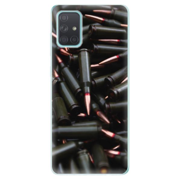 Odolné silikonové pouzdro iSaprio - Black Bullet - Samsung Galaxy A71