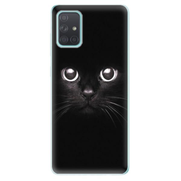 Odolné silikonové pouzdro iSaprio - Black Cat - Samsung Galaxy A71