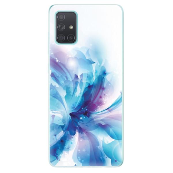 Odolné silikonové pouzdro iSaprio - Abstract Flower - Samsung Galaxy A71