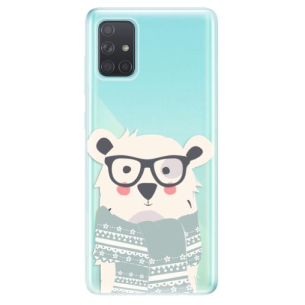 Odolné silikonové pouzdro iSaprio - Bear with Scarf - Samsung Galaxy A71
