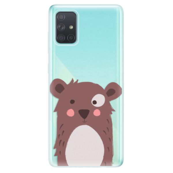 Odolné silikonové pouzdro iSaprio - Brown Bear - Samsung Galaxy A71