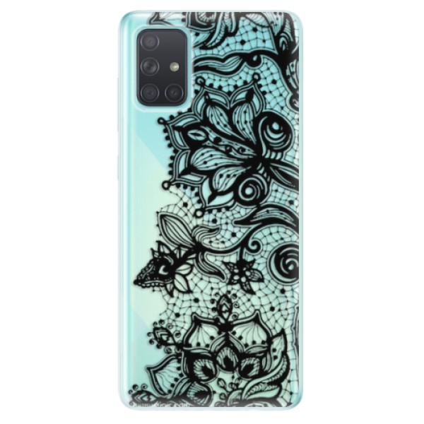 Odolné silikonové pouzdro iSaprio - Black Lace - Samsung Galaxy A71