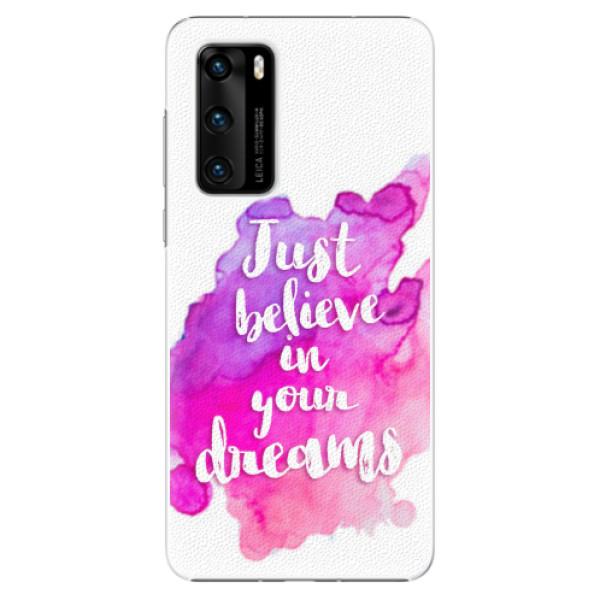 Plastové pouzdro iSaprio - Believe - Huawei P40