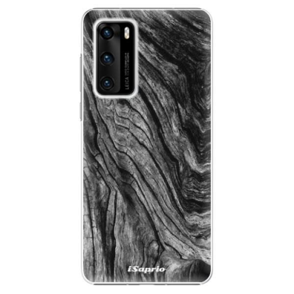 Plastové pouzdro iSaprio - Burned Wood - Huawei P40