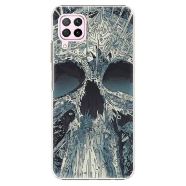 Plastové pouzdro iSaprio - Abstract Skull - Huawei P40 Lite